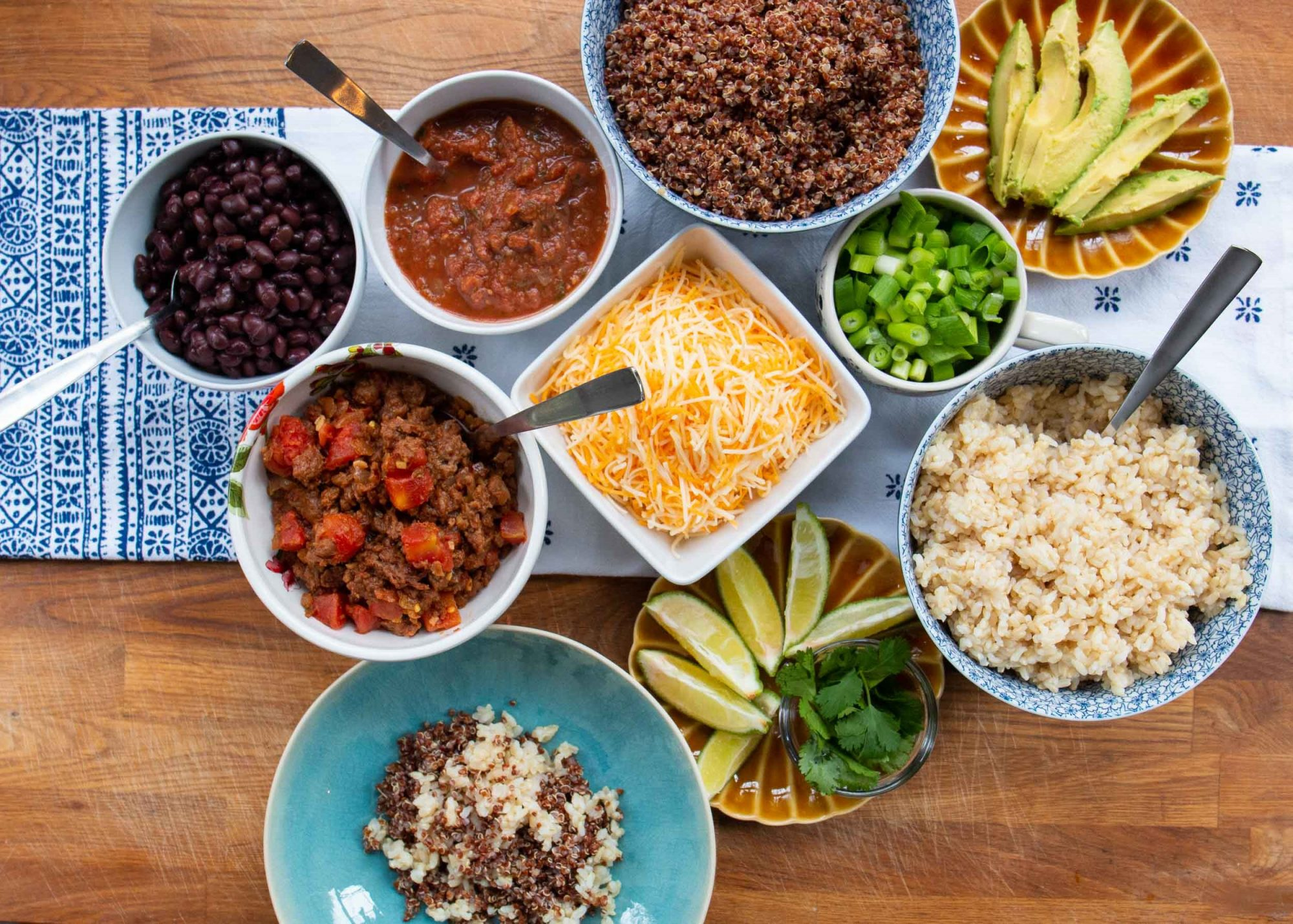 rice bowls and salads ingredients