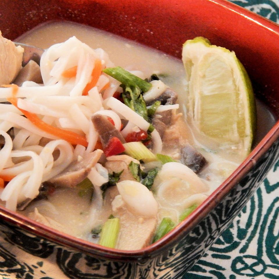 Thai Coconut Chicken Soup (Noodle Bowl)
