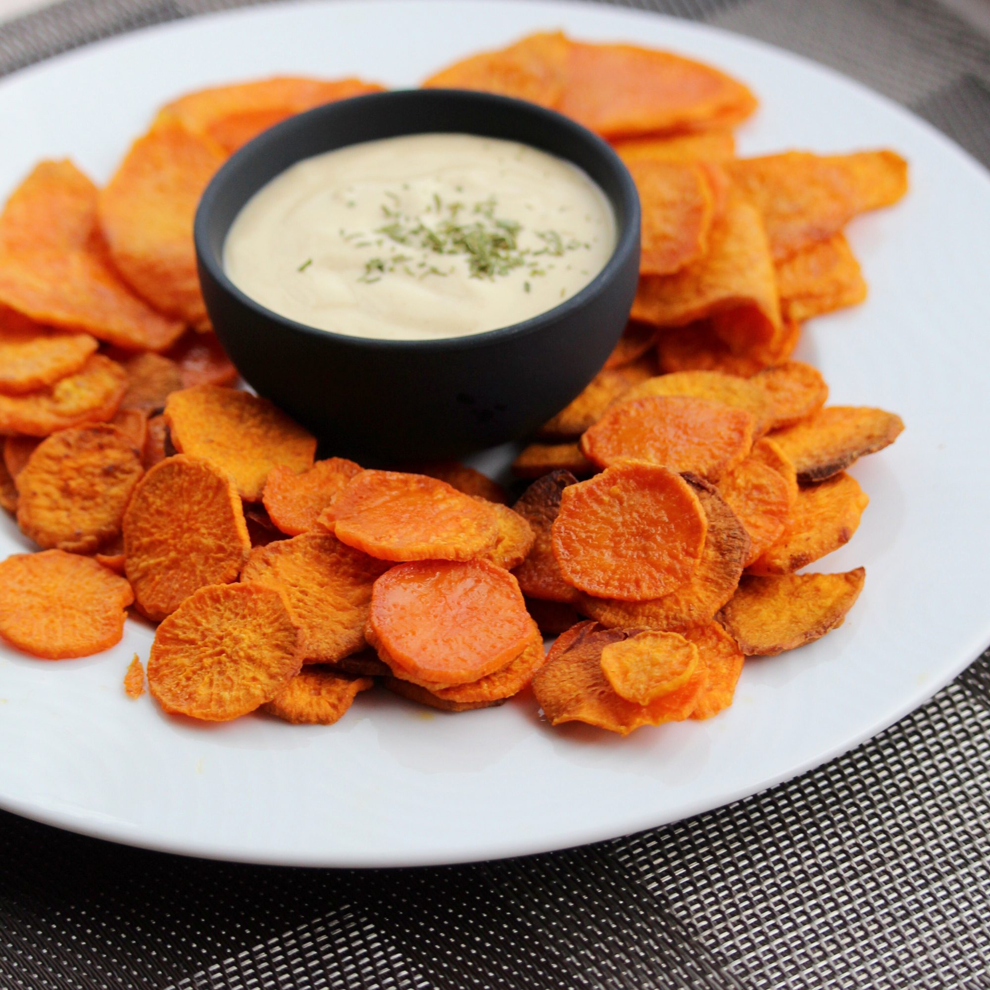 baked sweet potato coins