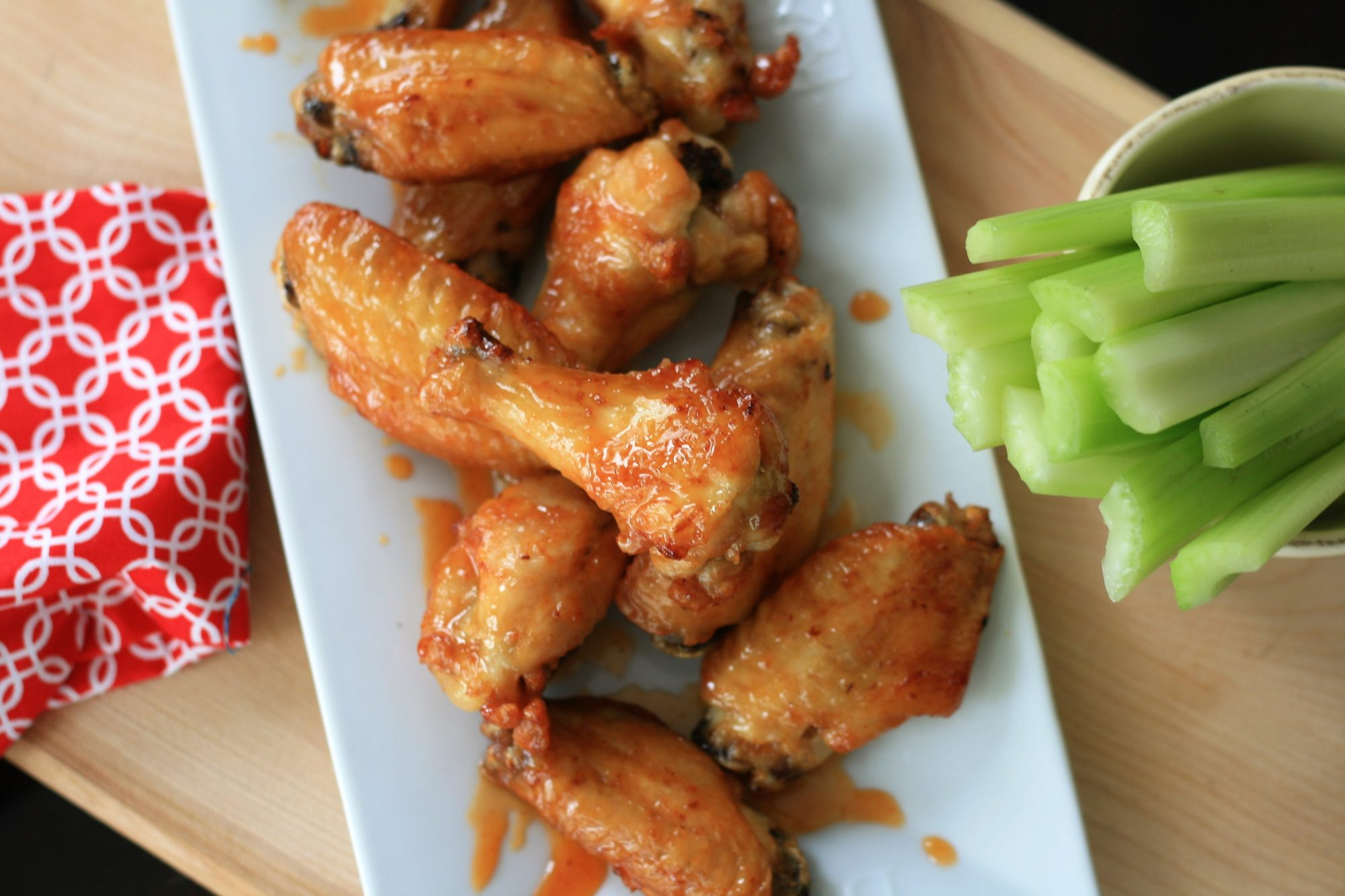 Honey-Sriracha Air Fryer Wings