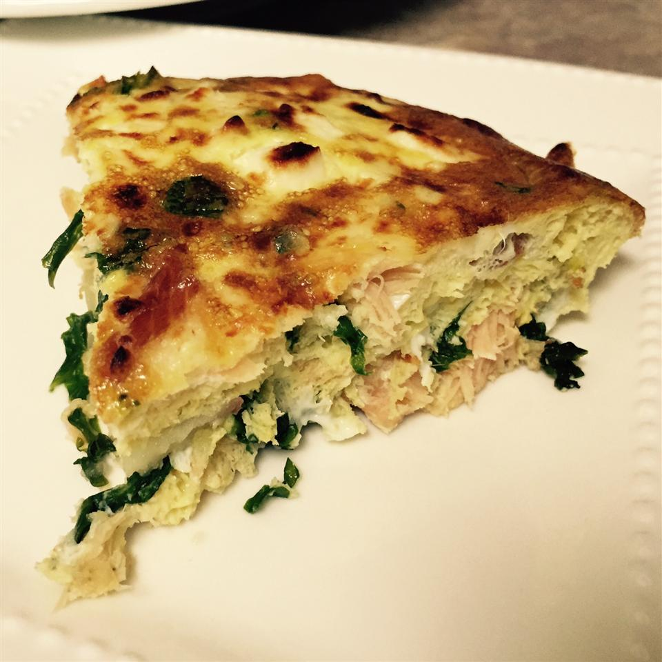 Kale and Smoked Salmon Frittata