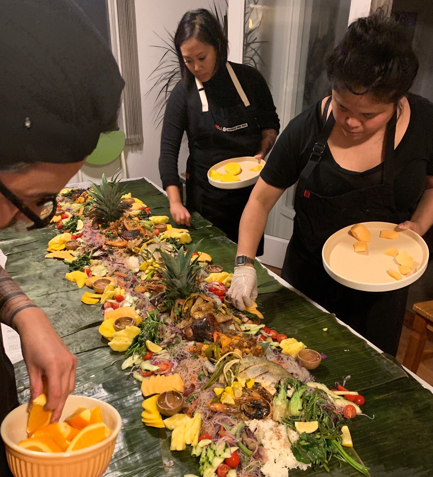 kamayan filipino feast