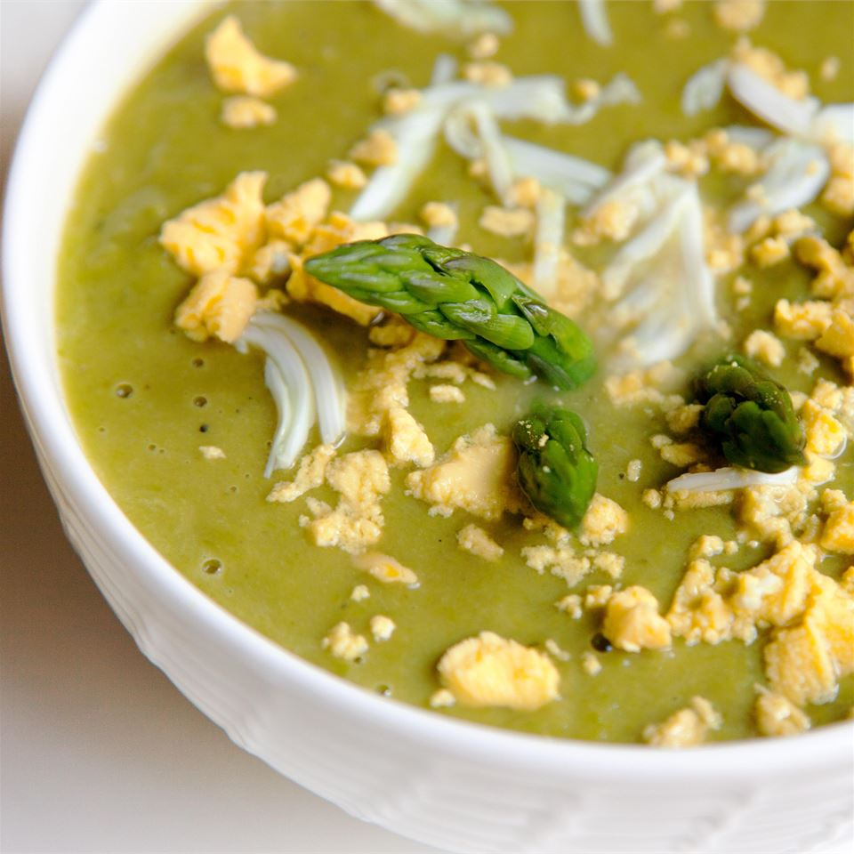 Asparagus, Lemon, and Mint Soup