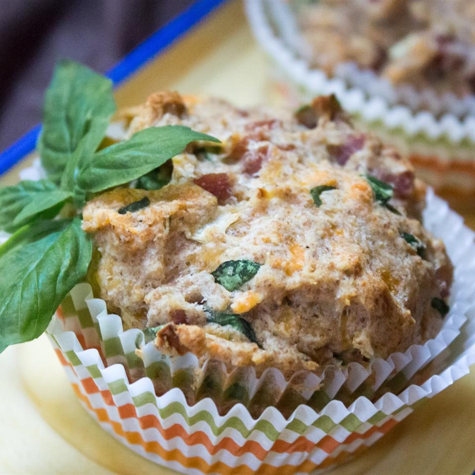 Spam®, Cheese, and Spinach Muffins
