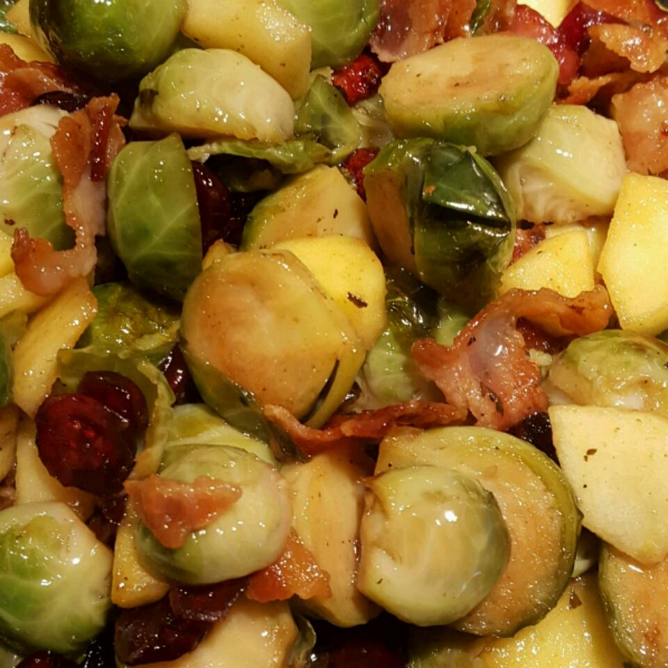 Christine's Bacon and Brussels Sprout Cranberry Salad