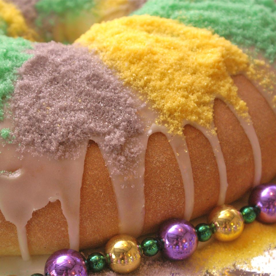 A traditional sweet bread with a cream-cheese filling. All hail the king cake's reign of yum!