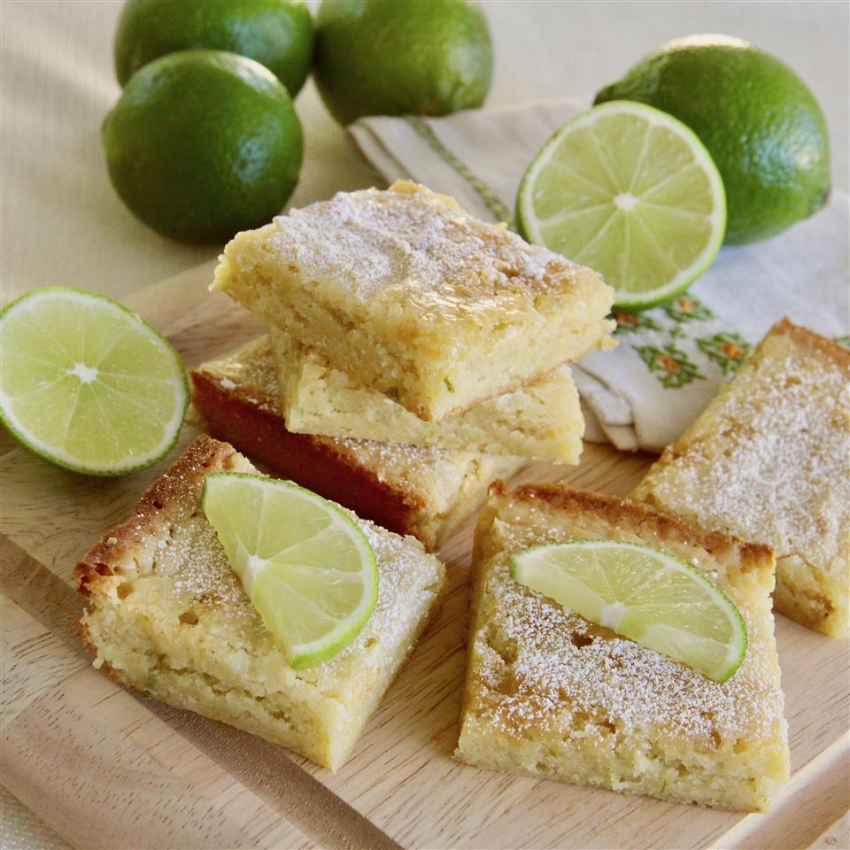 White-Chocolate Lime Blondies
