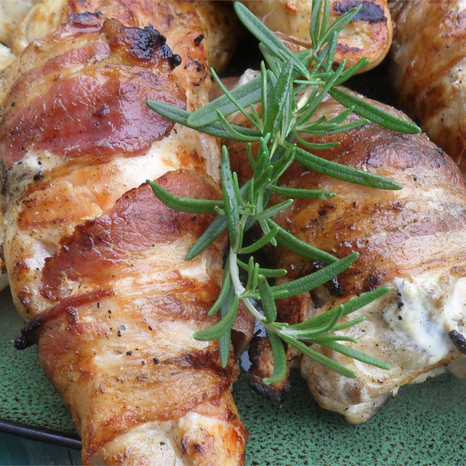 Grilled Chicken with Rosemary and Bacon
