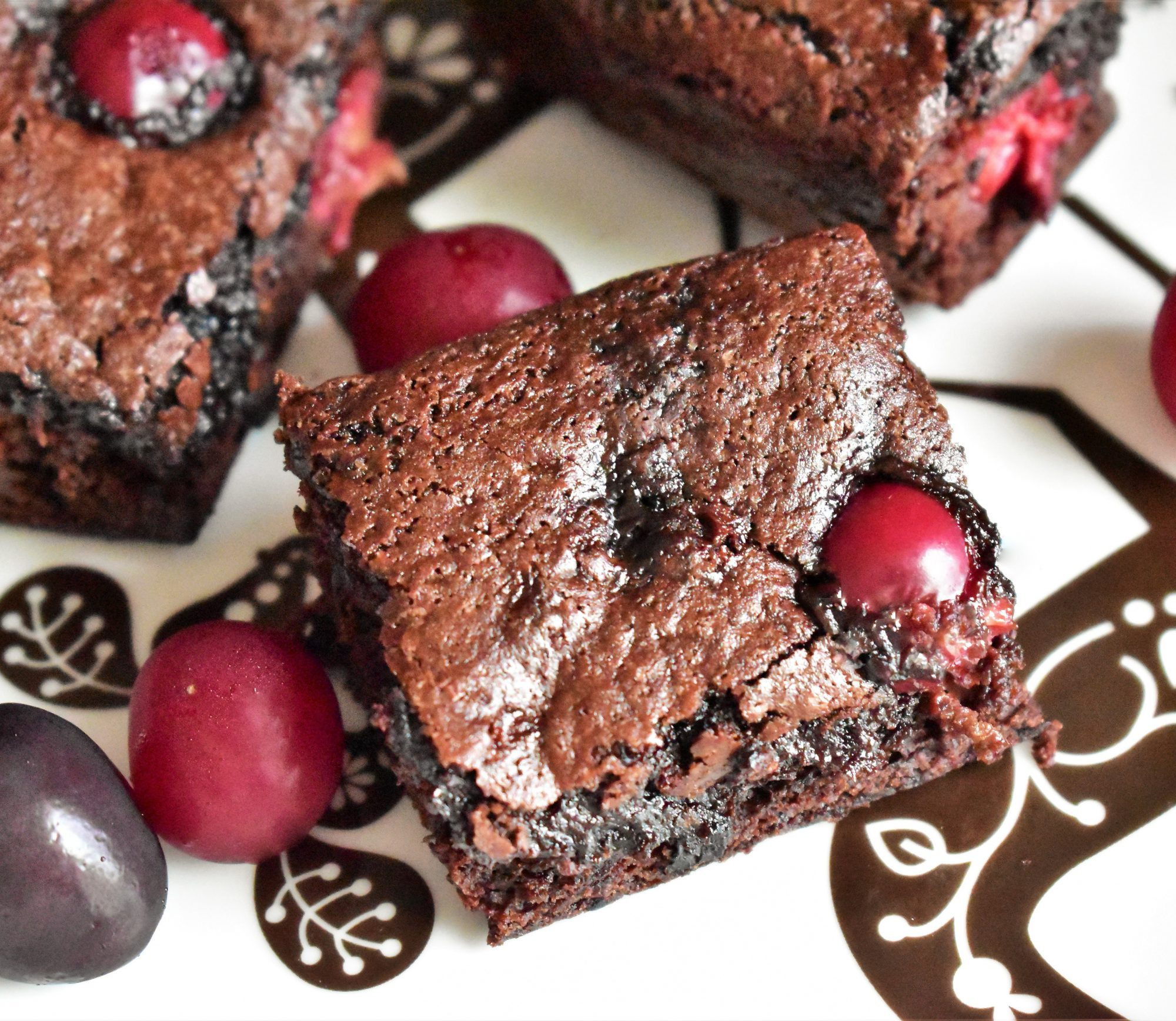 Cherry Brownies from Scratch