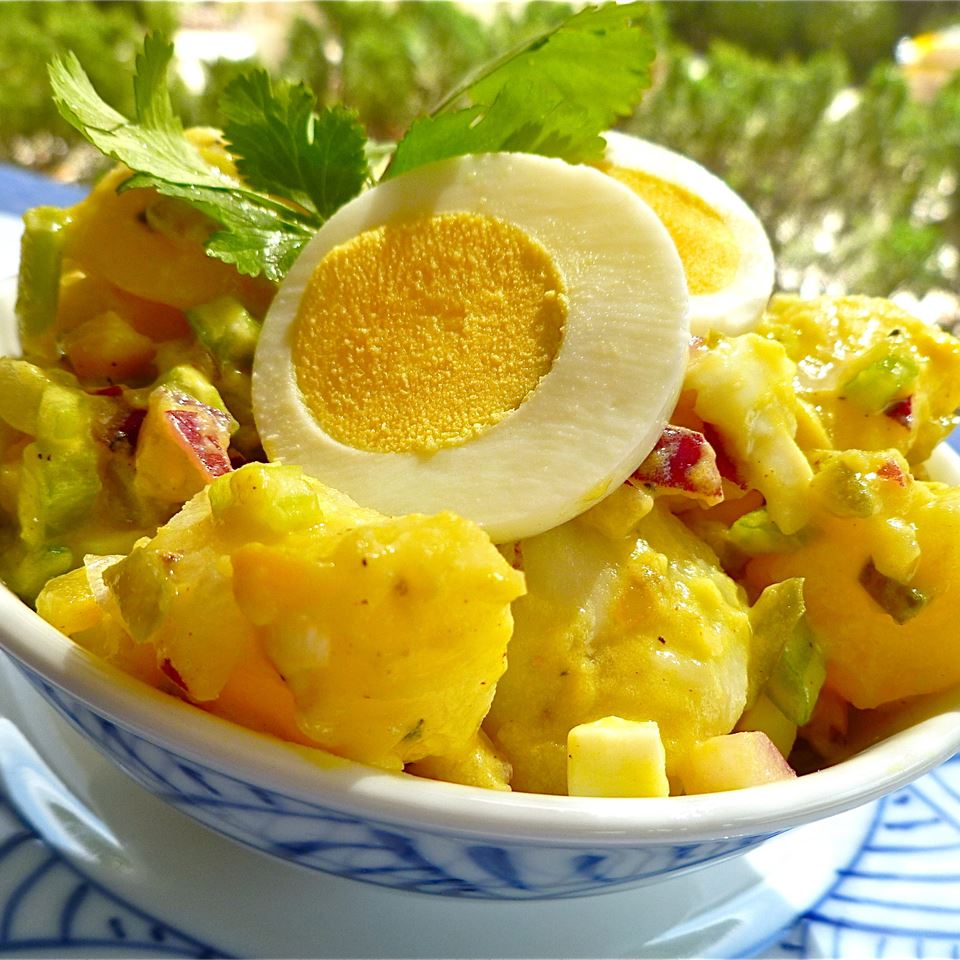 potato salad with eggs in a bowl