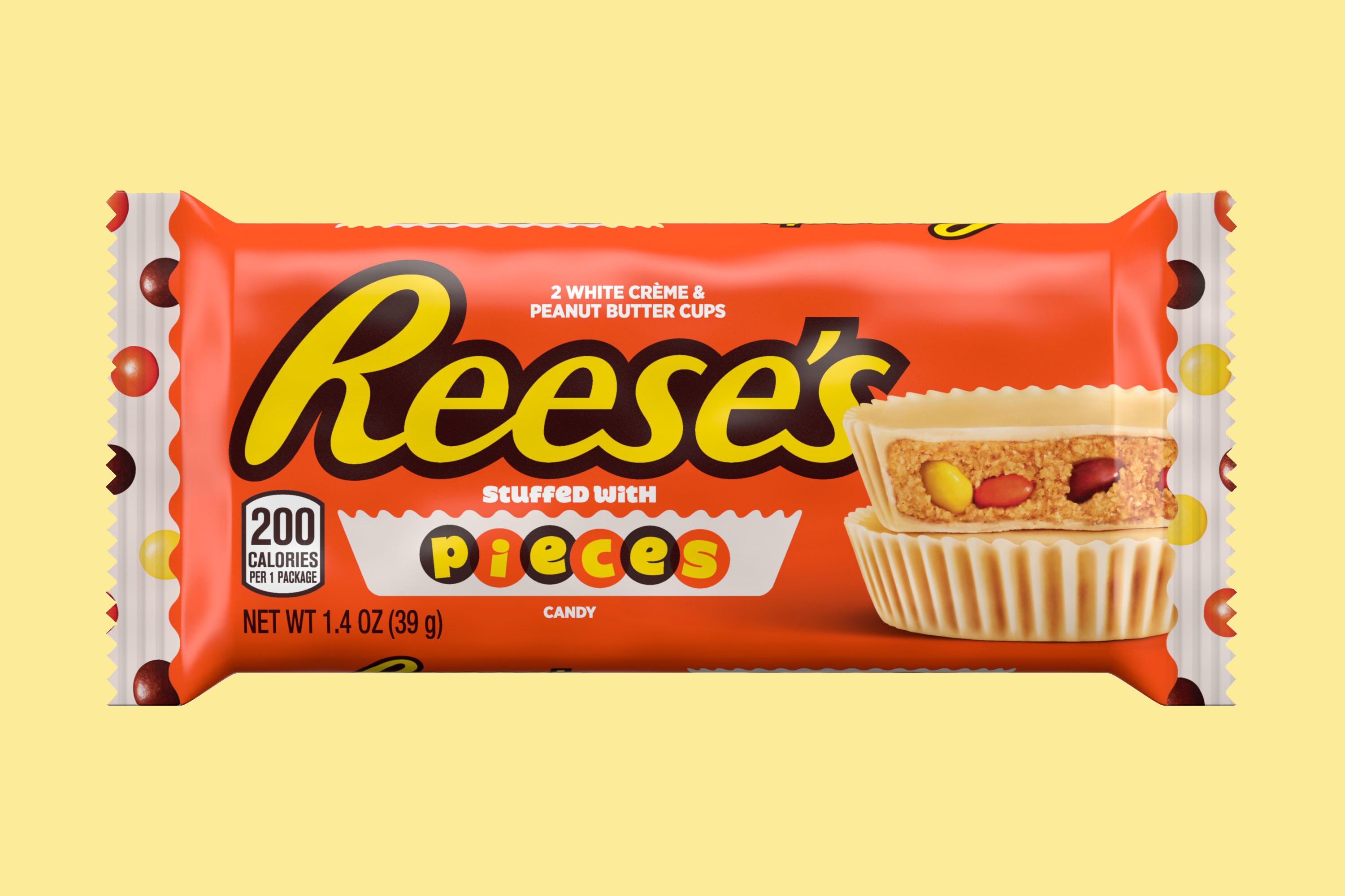 White Creme Reese's Cups with Pieces