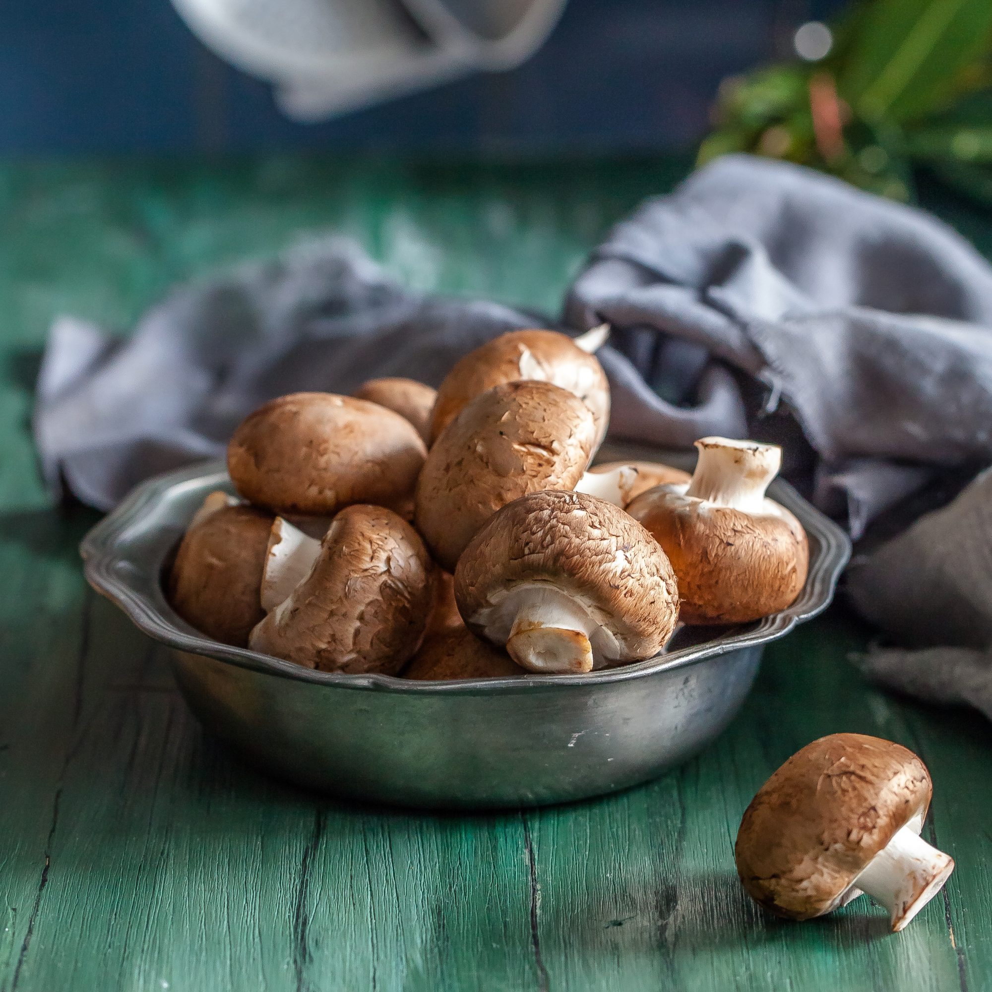 """Mushrooms are super dirty. Don't cook them without washing them, but don't let them sit in water, either. Since mushrooms are like sponges that soak up water, you don't want to compromise their taste and texture by soaking them. """"You should wash mushrooms with water then blot them dry with a paper towel,"""" Michalczyk. Why this method? Damp mushrooms don't cook as well."""