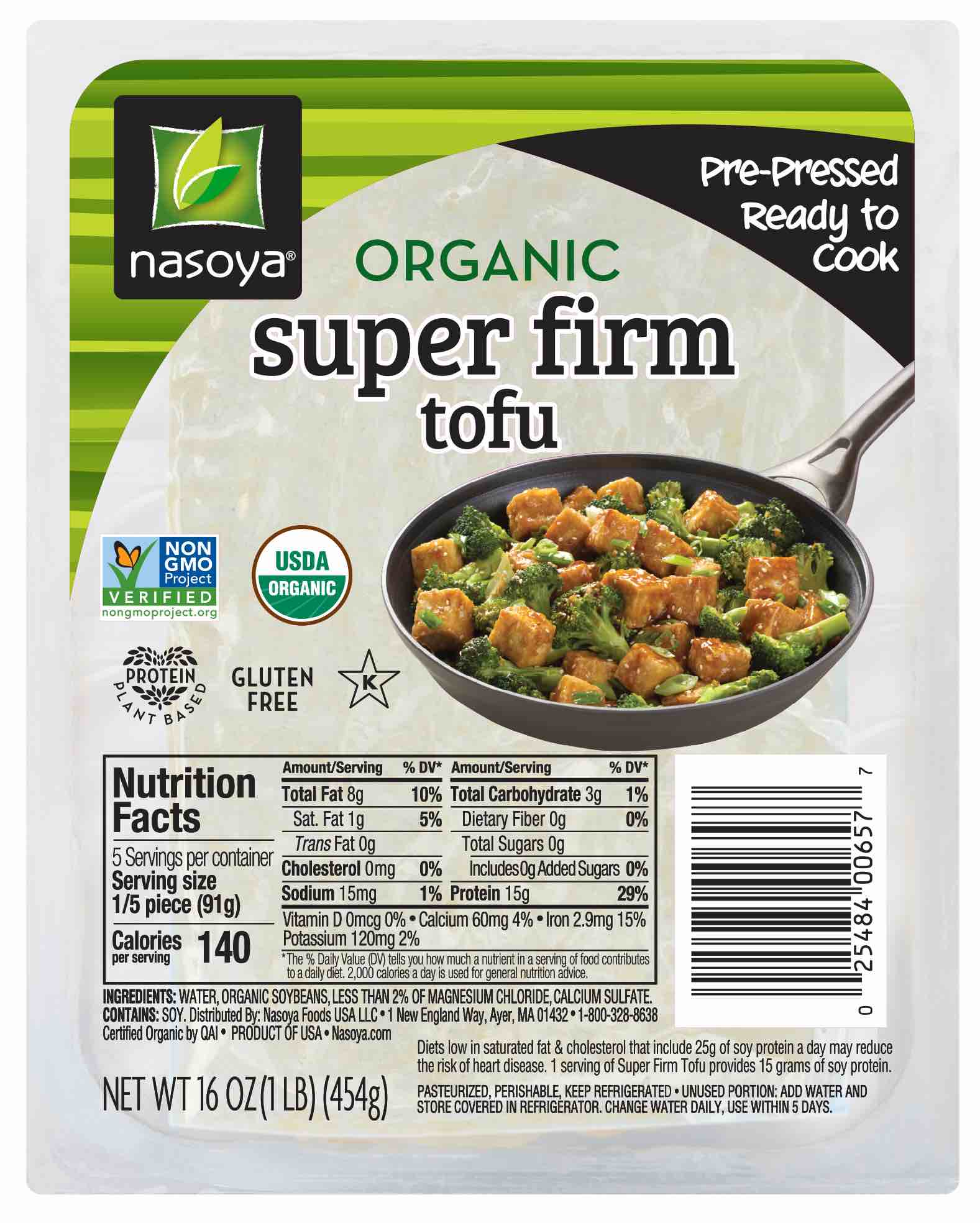 Nasoya Organic Sprouted Super Firm Tofu