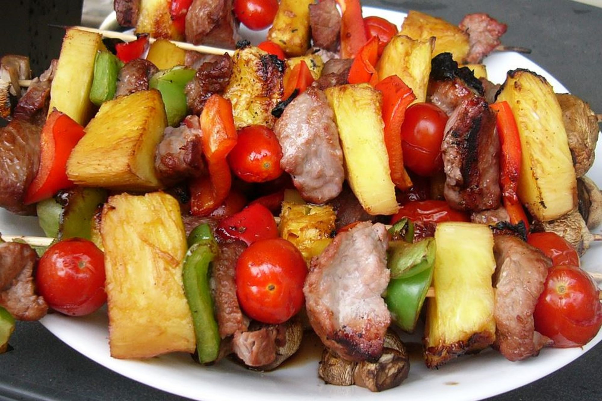 Sensational Sirloin Kabobs with colorful vegetables