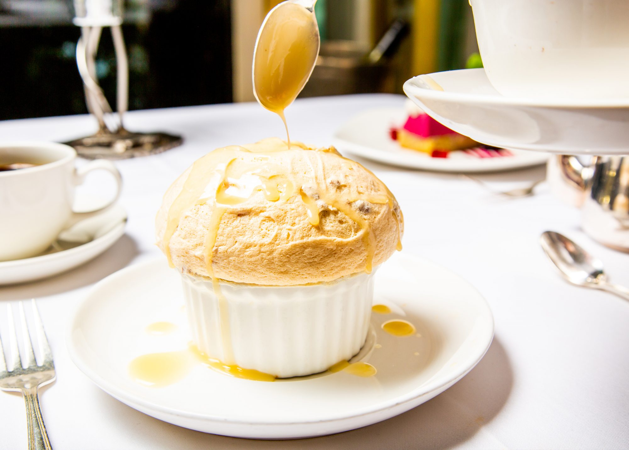 Whiskey Bread Pudding Soufflé-at Commander's Palace