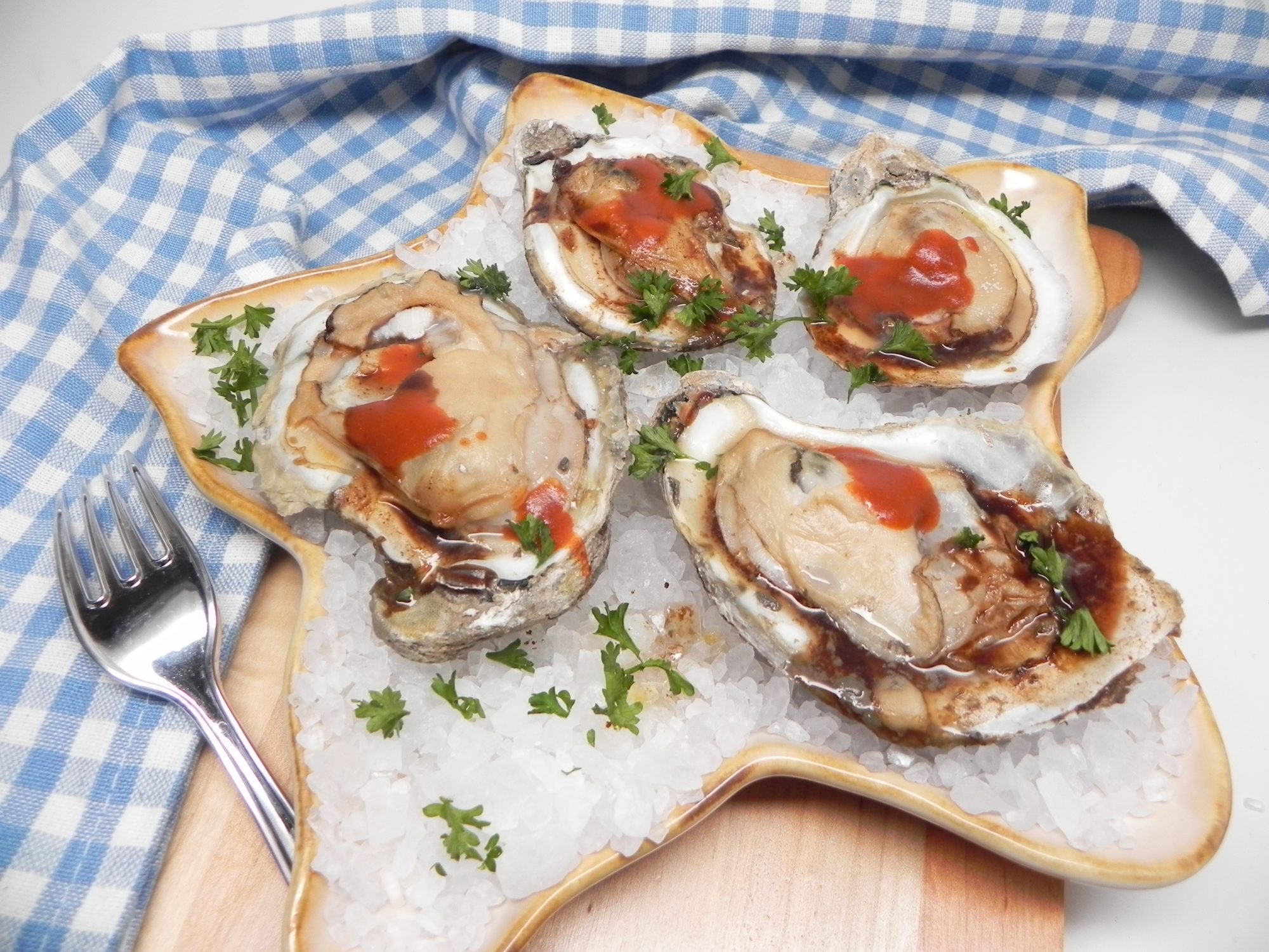 Air Fryer Oysters on the Half Shell