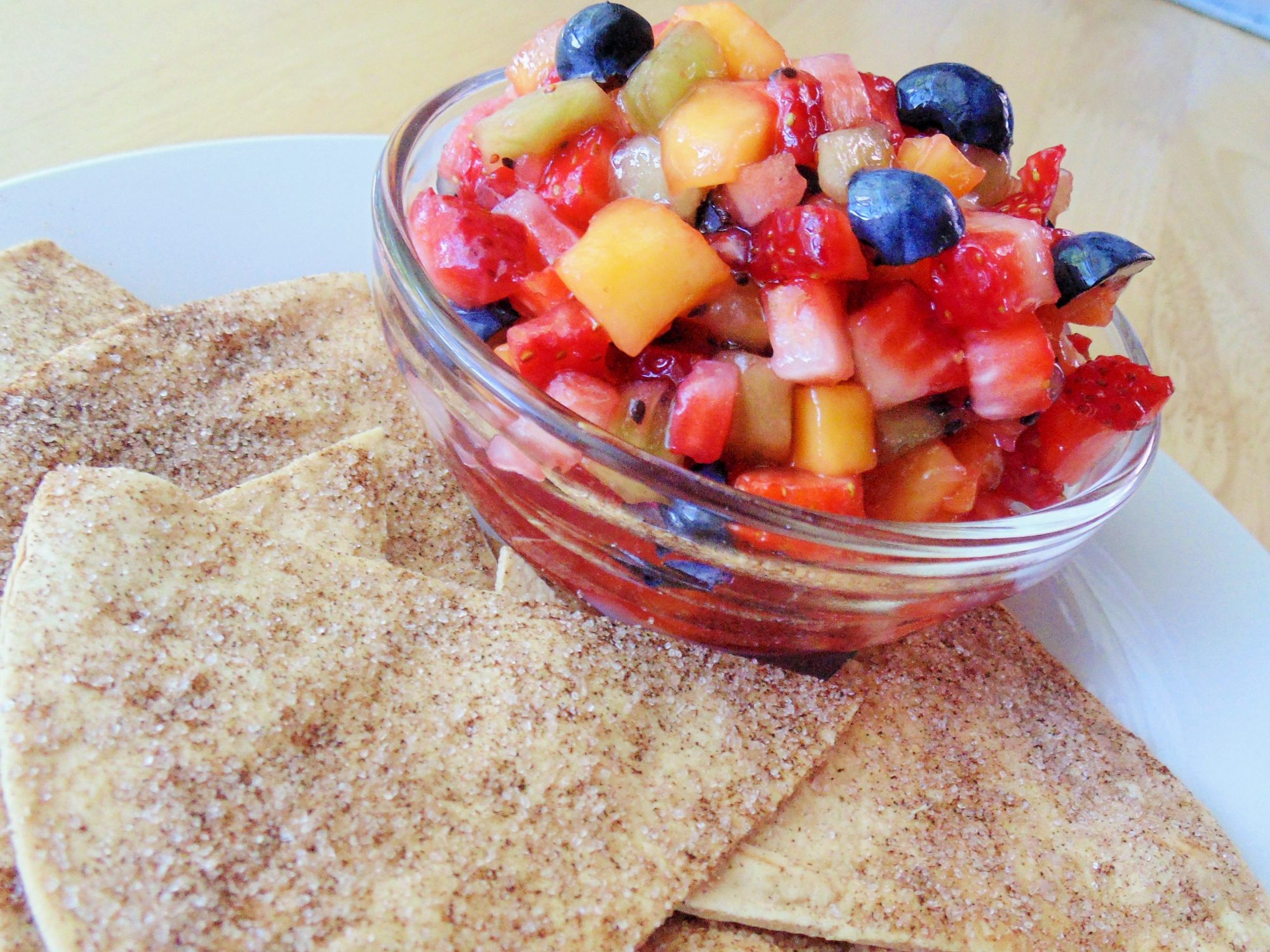 Annie's Fruit Salsa and Cinnamon Chips