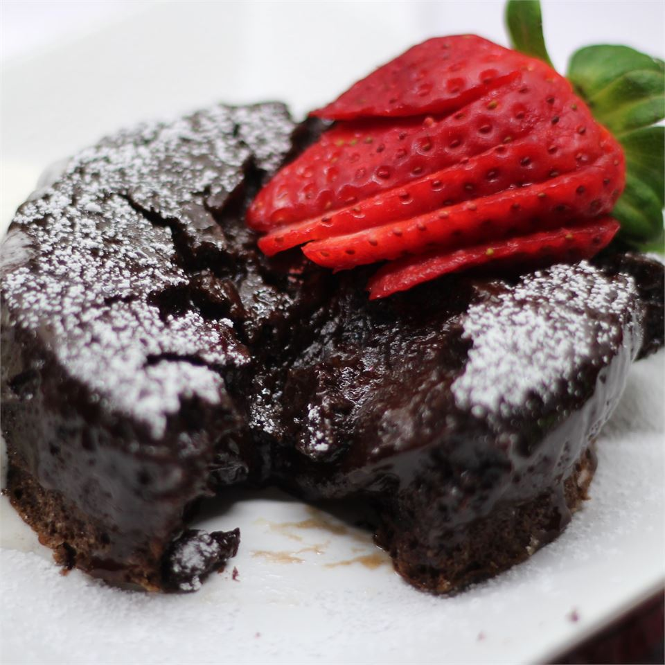 """""""This is unbelievable! My daughter and I were watching MasterChef and they made a chocolate lava cake,"""" says reviewer Caryl. """"I had to make it, so I went to my favorite website! This recipe was so simple and quick. I was amazed."""""""