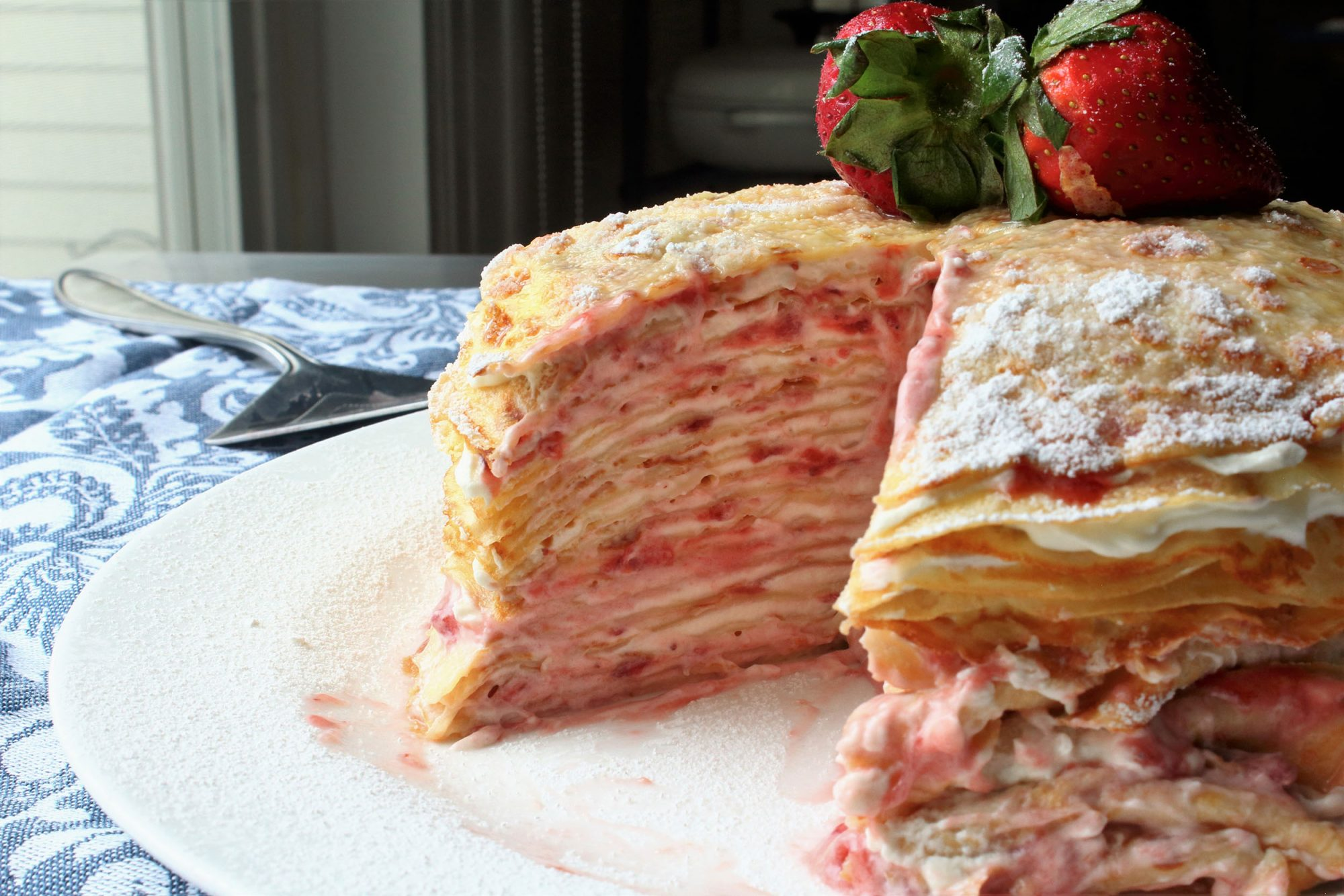 Chef John's Strawberry Crepe Cake
