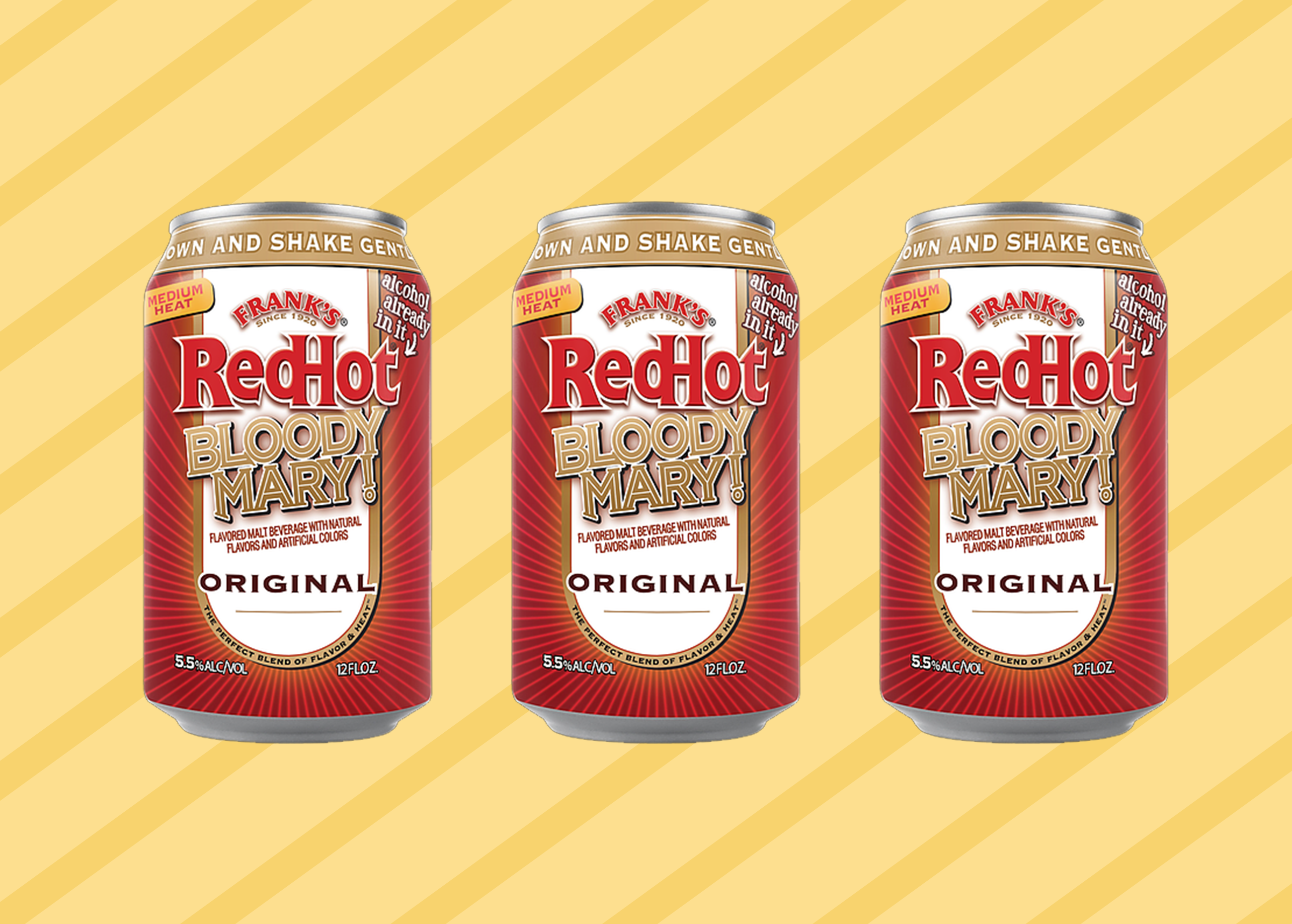 Franks RedHot Bloody Mary in a Can