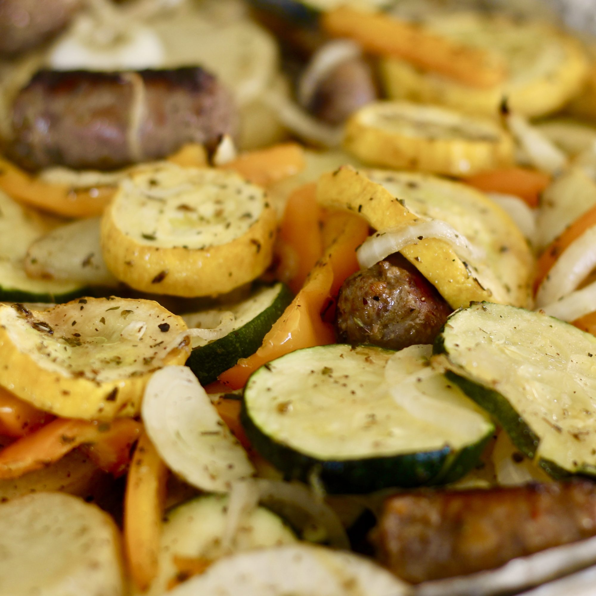 Roasted Sausage and Vegetables Sheet Pan Dinner