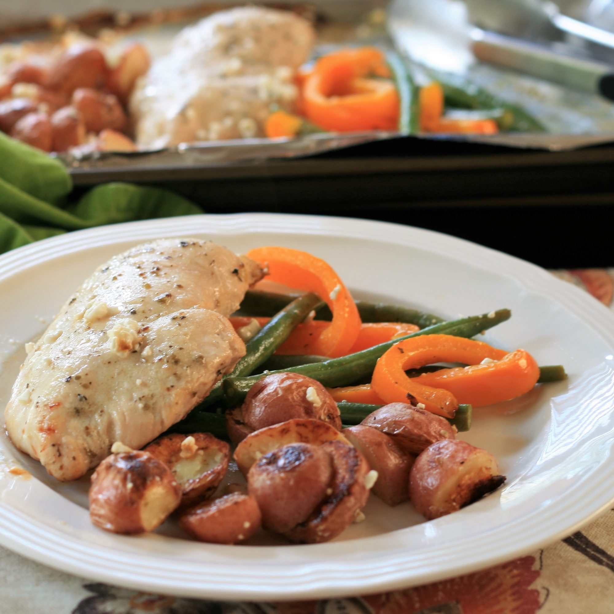 Sheet Pan Chicken Dinner for Two
