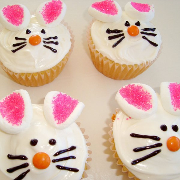 Buttermilk icing decoration as easter bunny