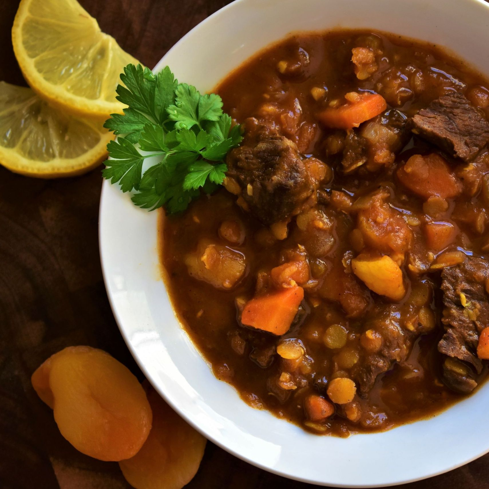 Moroccan Beef and Lentil Stew