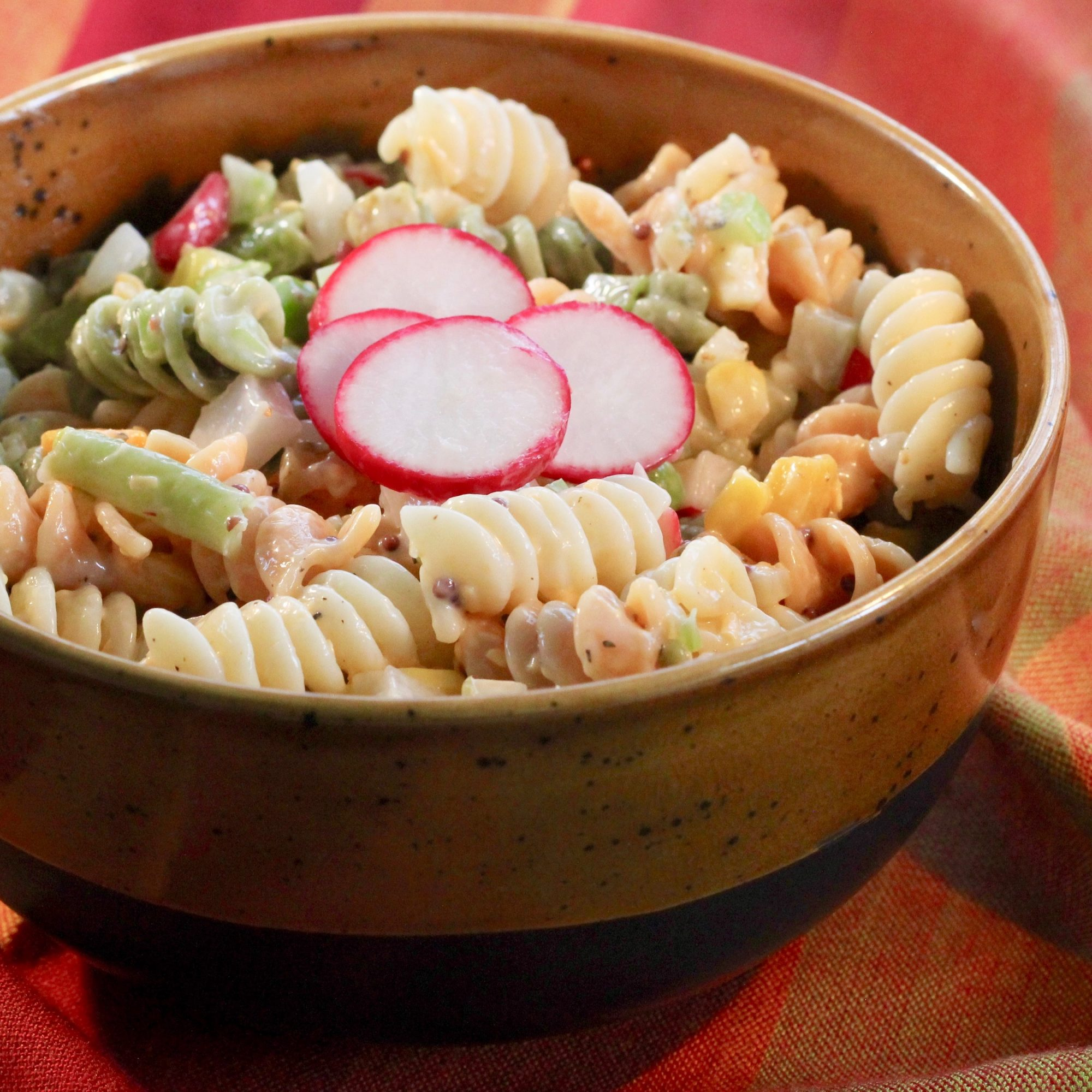 Fiesta Pasta Salad with Dill Pickles