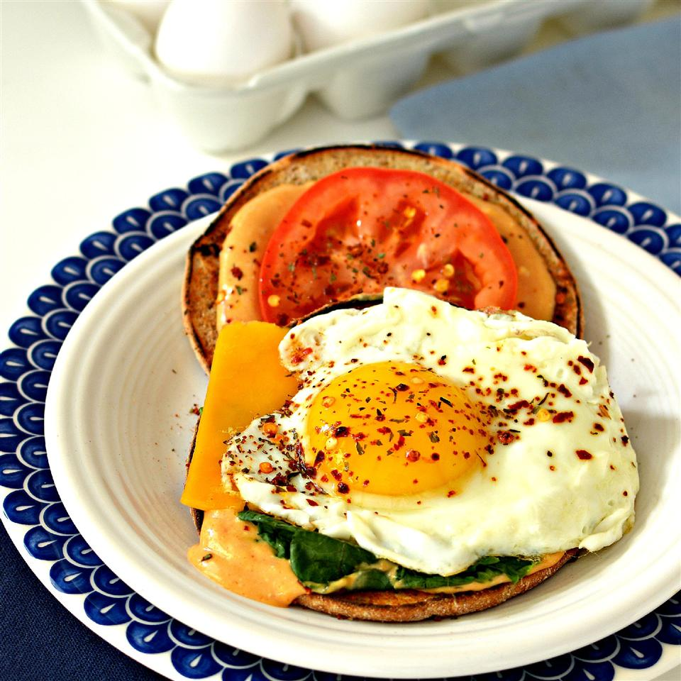 Cajun Fried Egg Sandwich