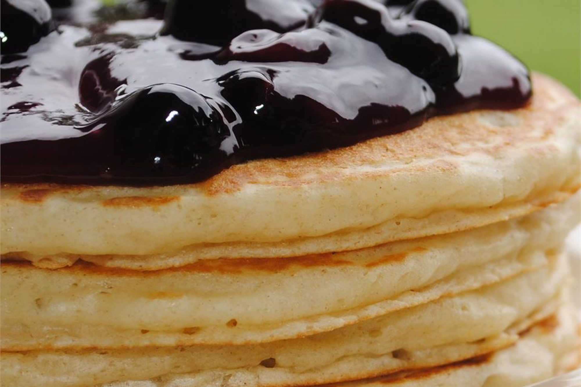 Buttermilk Pancakes II with blueberries on top