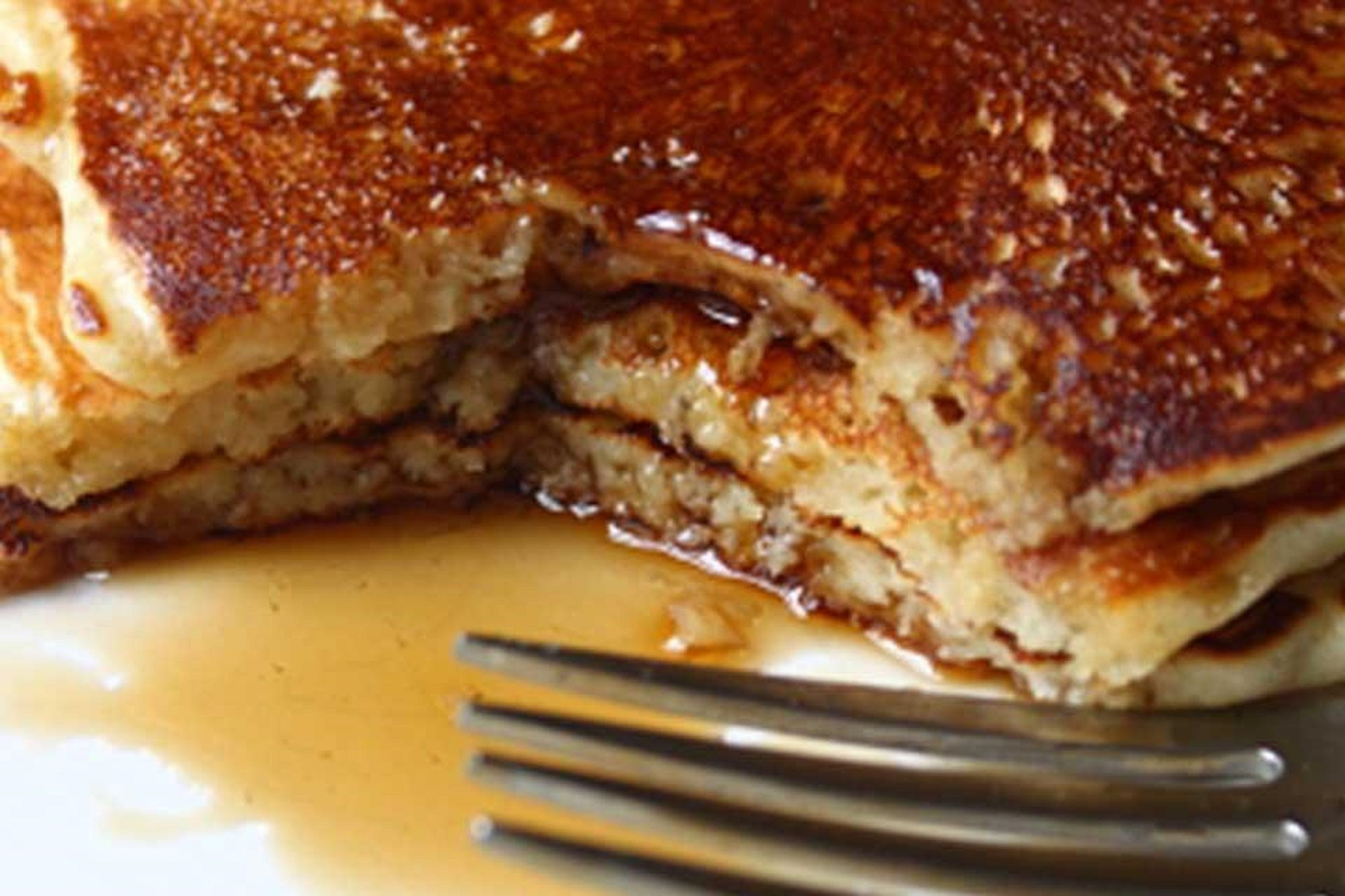 Old-Fashioned Pancakes up close