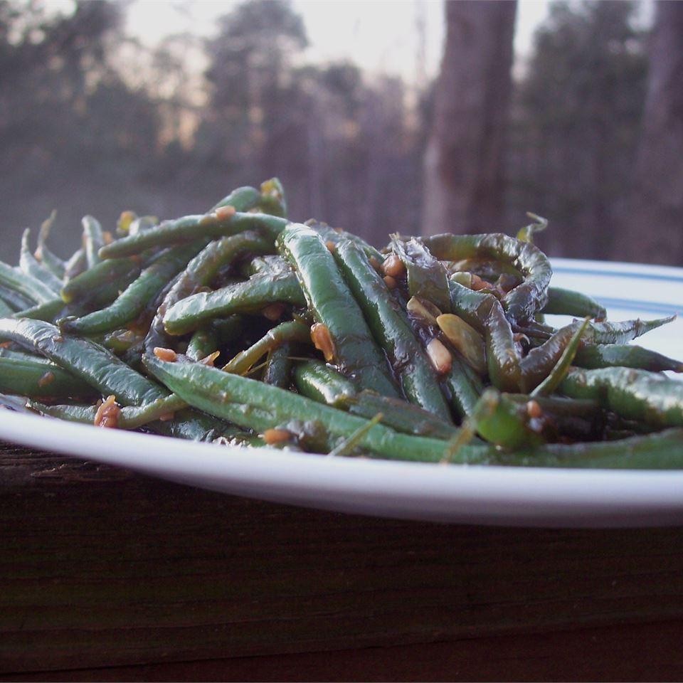 Sweet and Spicy Greens Beans