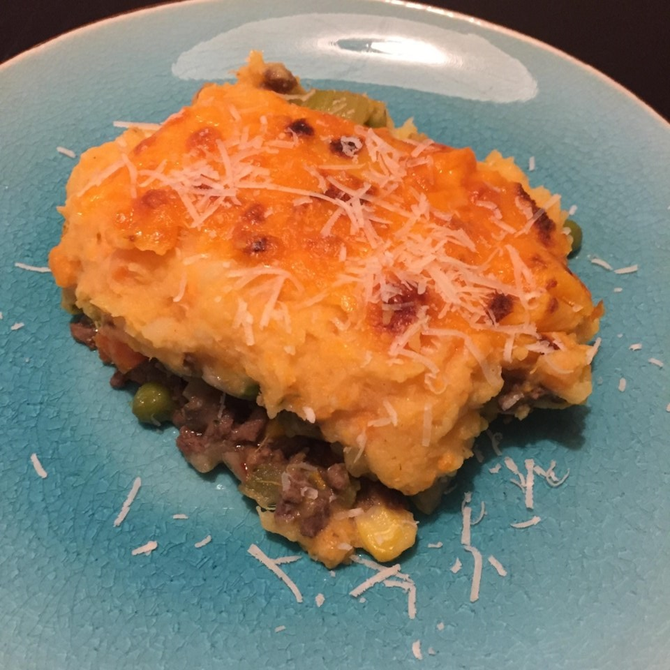 Instant Pot Shepherd's Pie with Potatoes and Yams