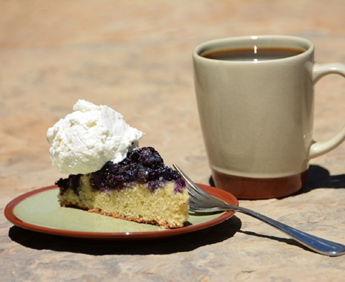 Blueberry Cornmeal Upside-Down Cake