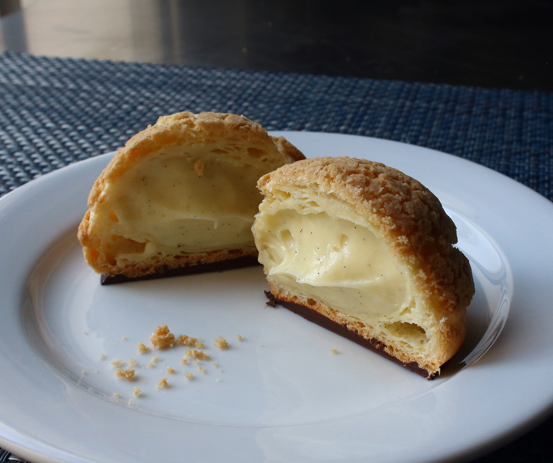 "Cream Puff ""Crack Buns"" (Choux au Craquelin)"