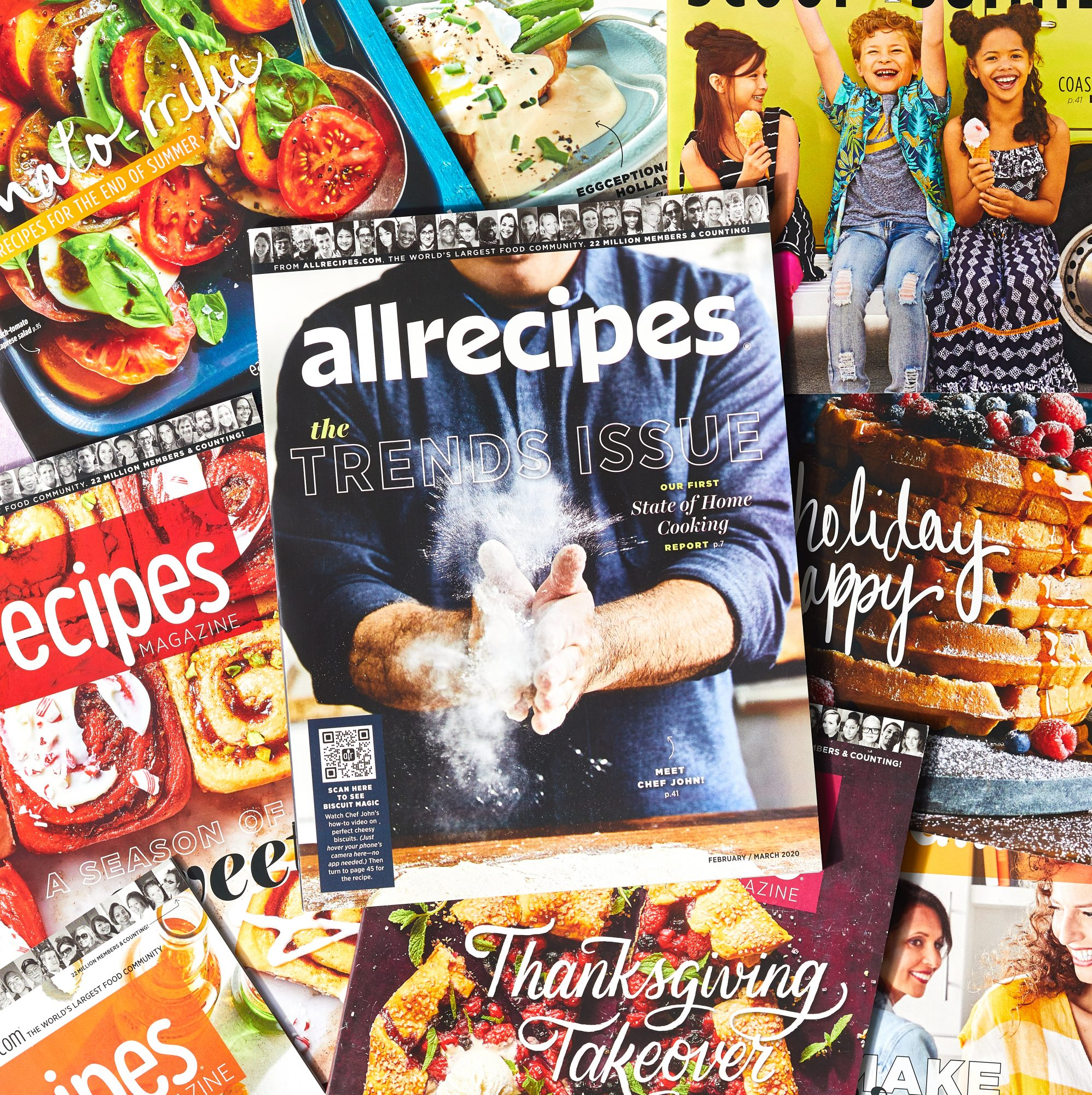 allrecipes magazine covers