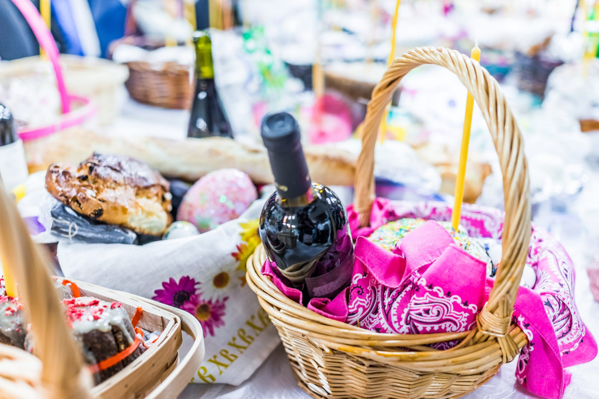 Adult Easter Basket with Wine