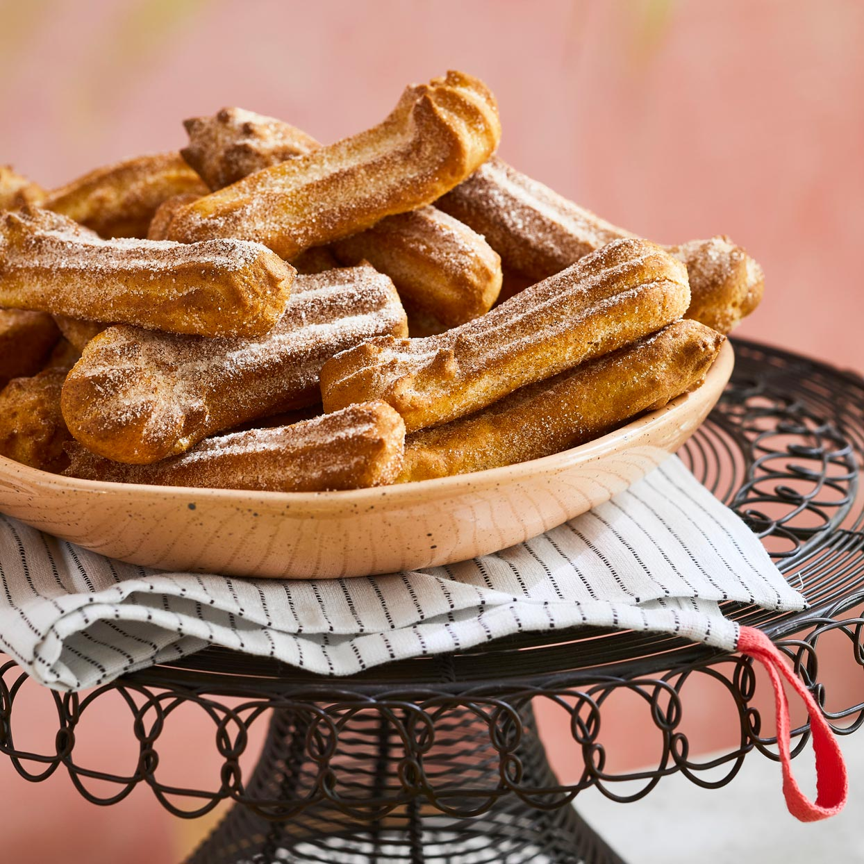 churros on serving plate