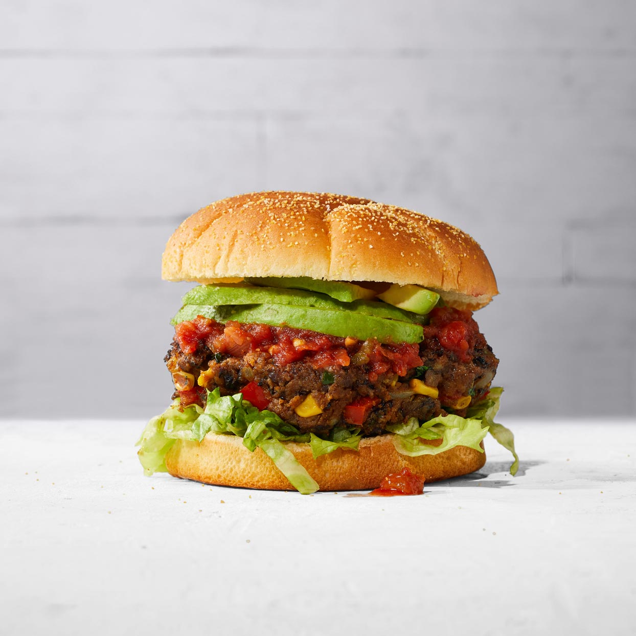 Spicy Black Bean and Corn Burgers