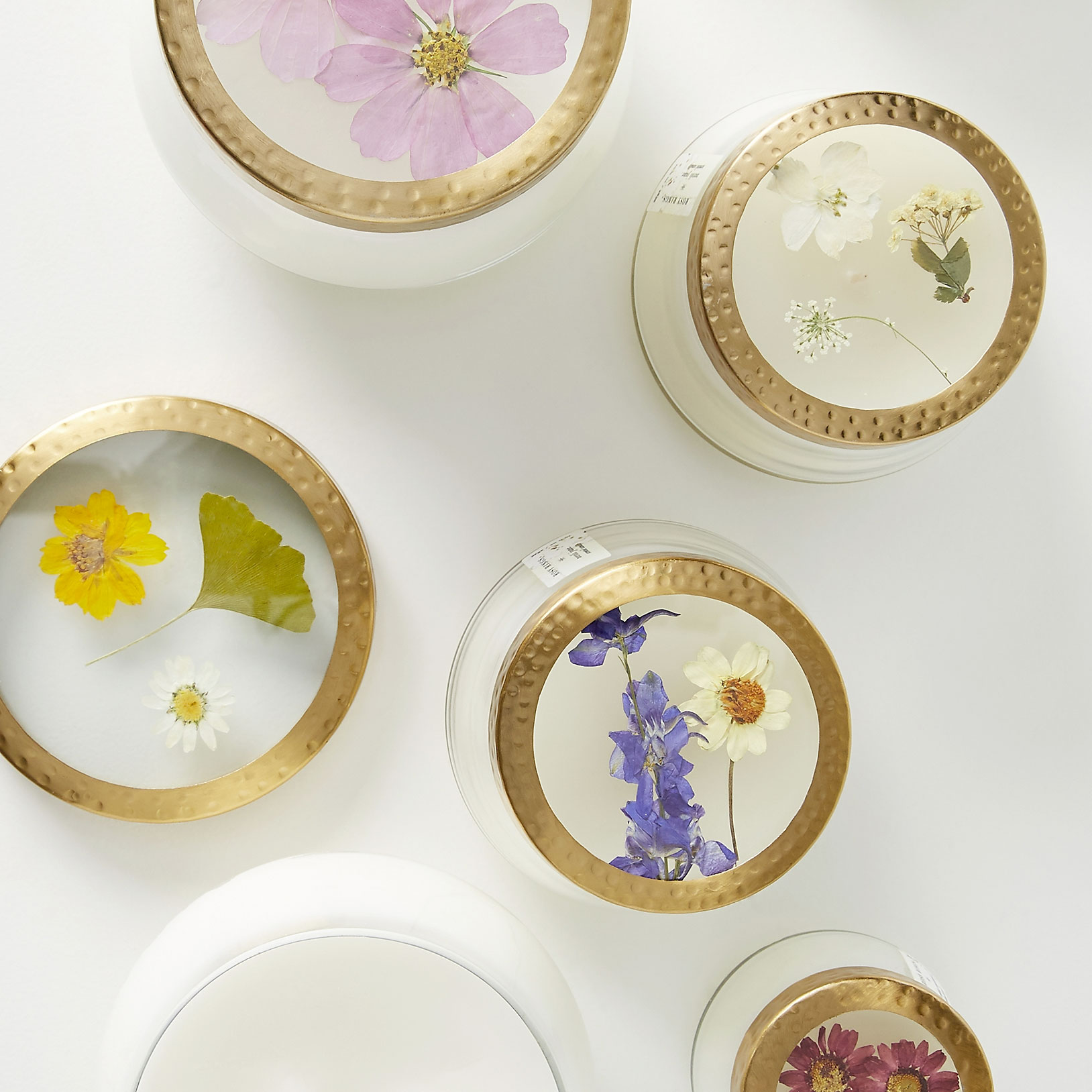 Floral Press Candle