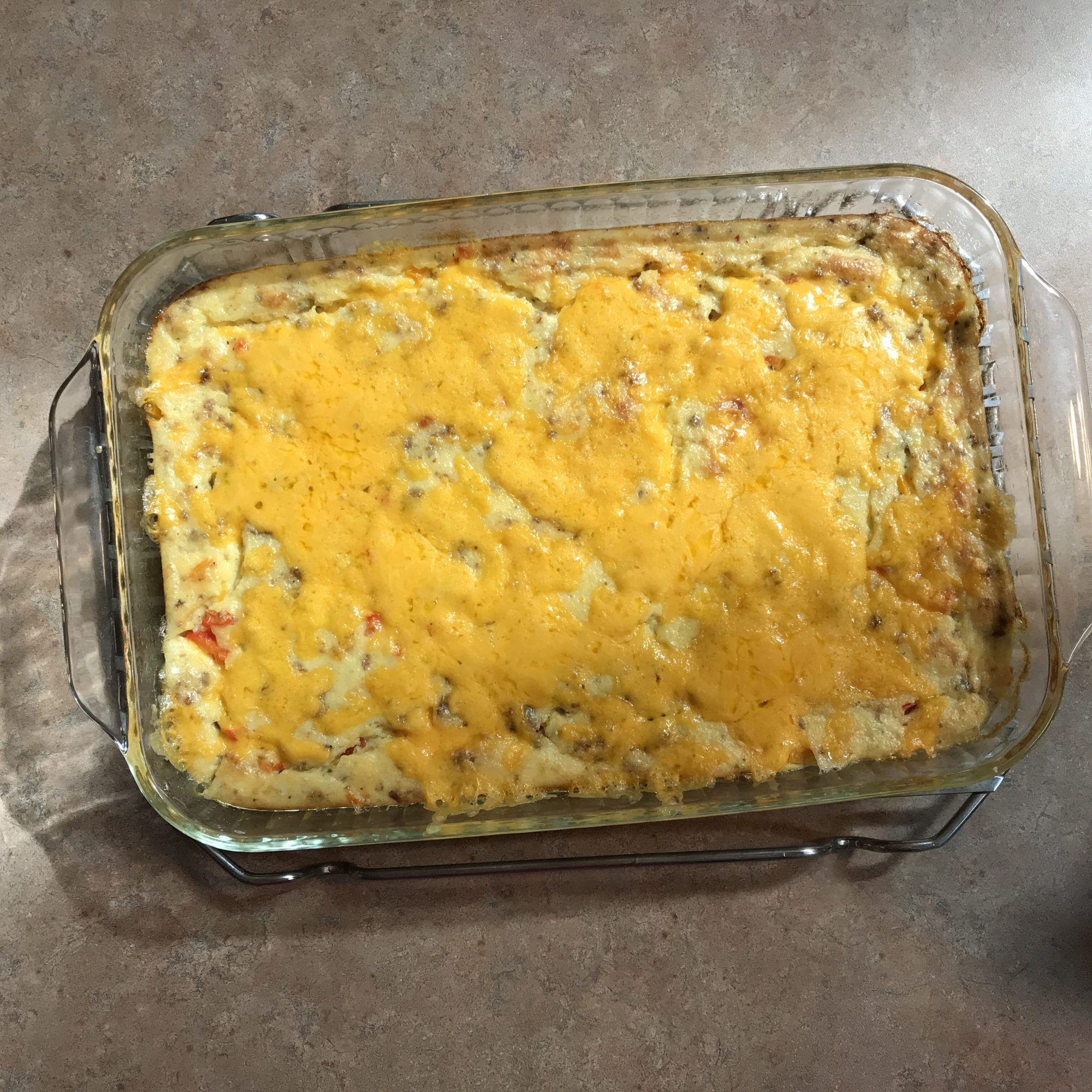 Grits, Sausage, and Egg Casserole