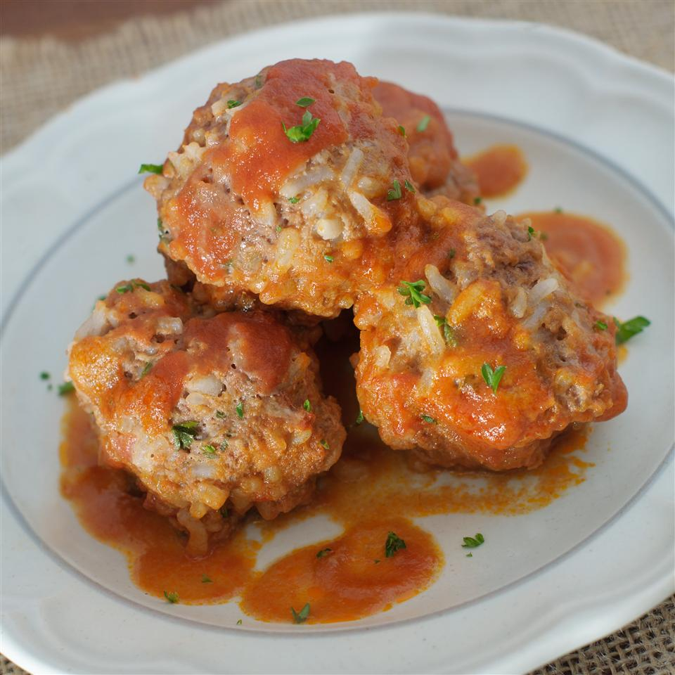 Porcupine Meatballs with ground beef and rice