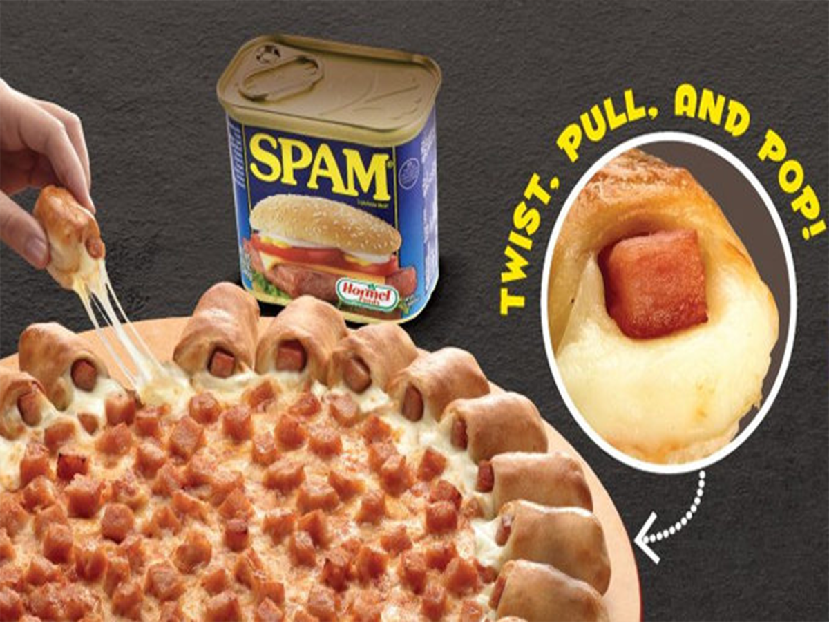 spam pizza from pizza hut