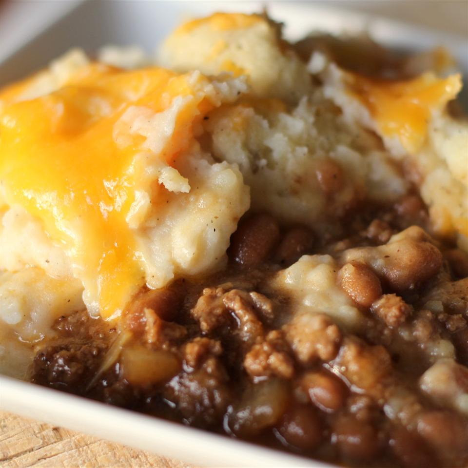 Cheesy Beef and Bean Bake