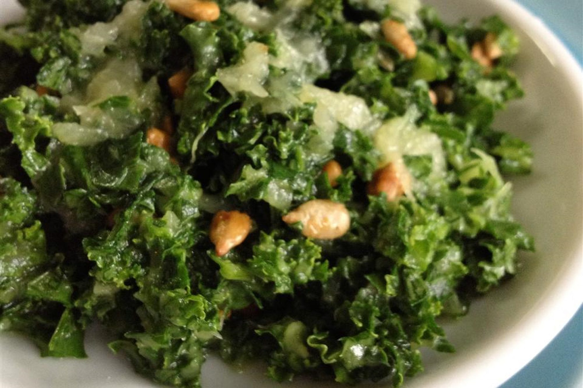 Kale Salad with Pineapple Dressing