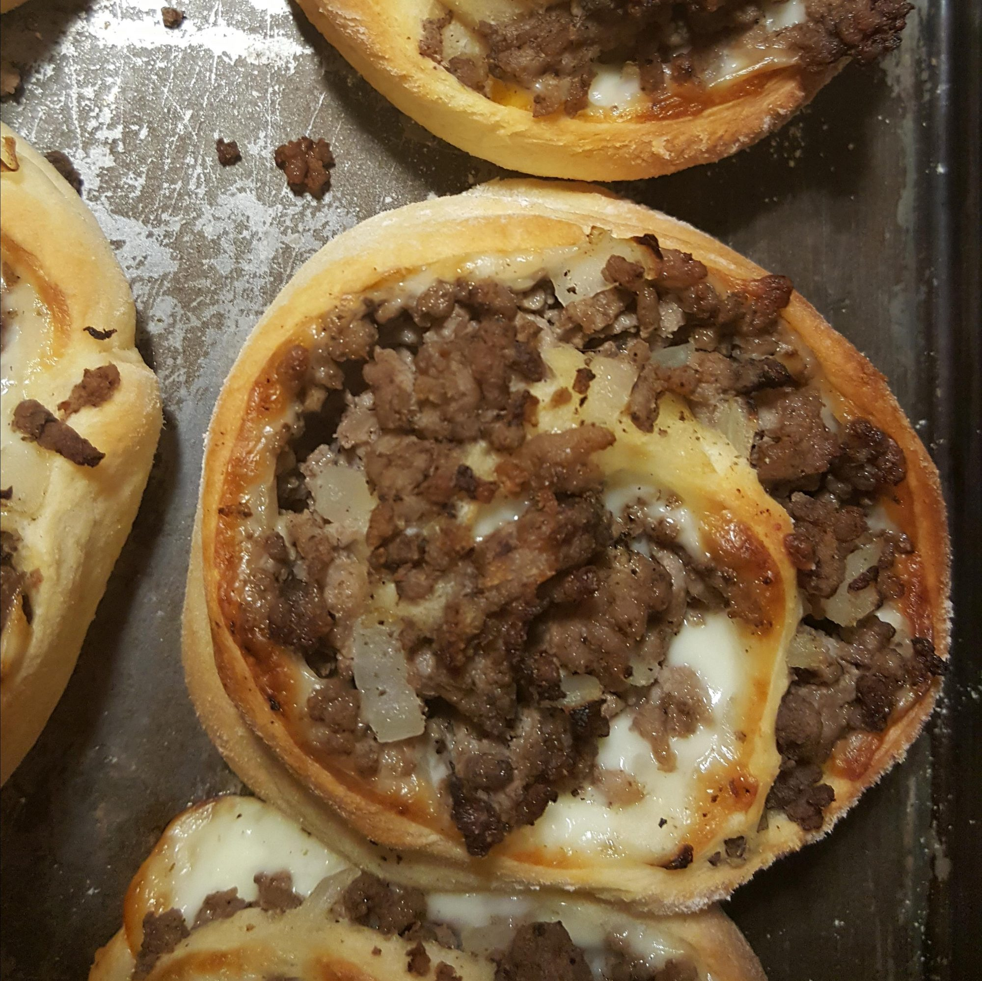 Ground Beef Pinwheels with Mushroom Sauce