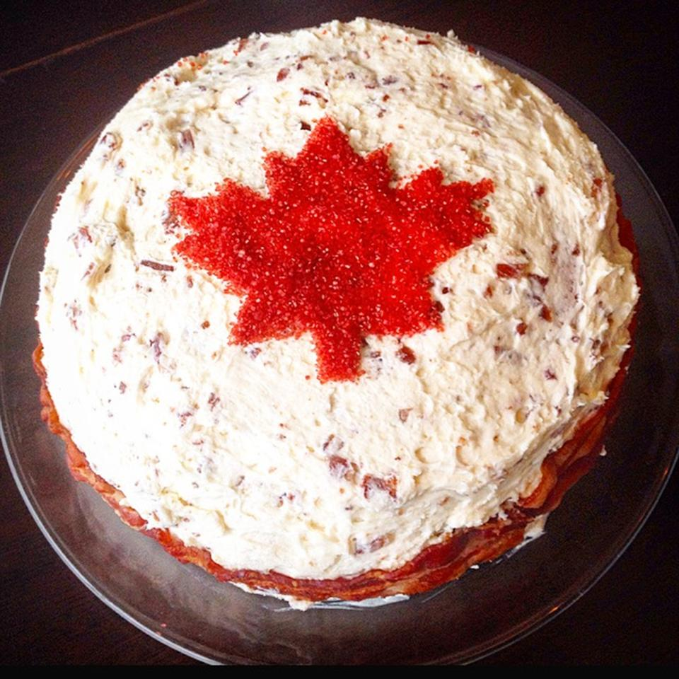 Oh Canada Maple Bacon Cake