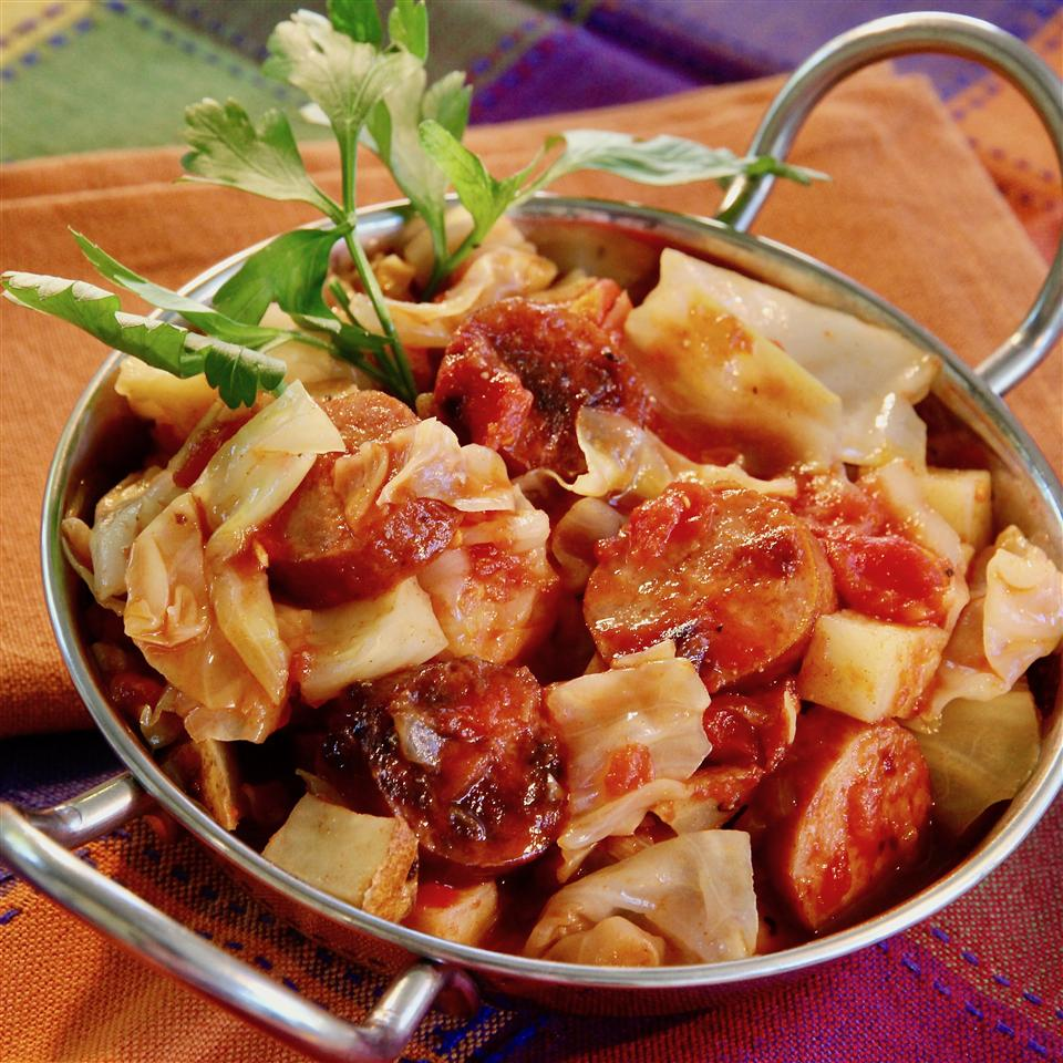 Big Ray's Kielbasa Cabbage Skillet for a Crowd