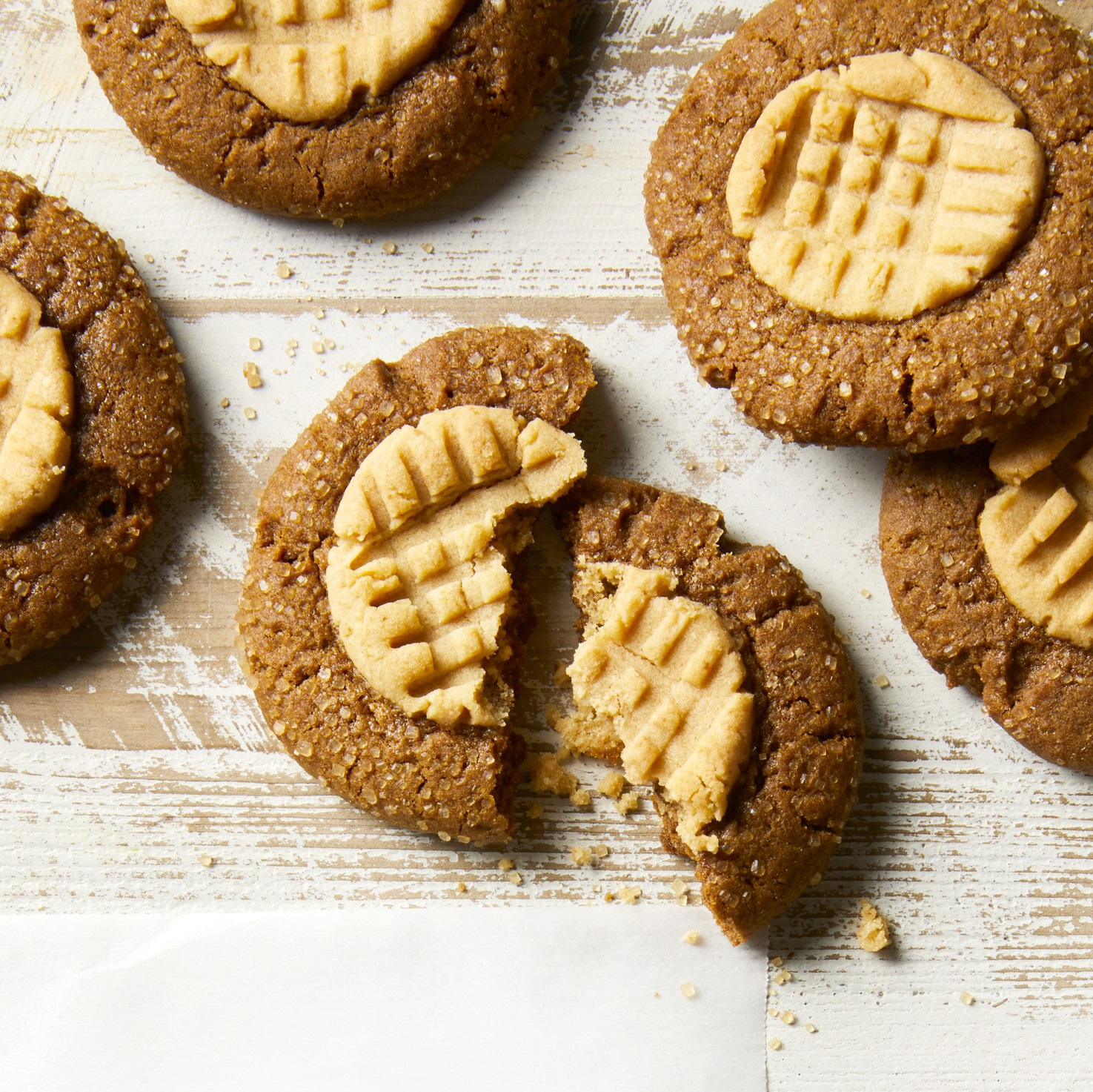 Peanut-Ginger Double-Deckers